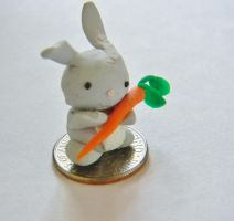 Tiny Bunny with a Carrot by TheIrishAngel