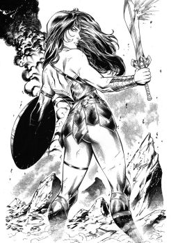 Wonder Woman - Inks by JP Mayer by CaioMarcus-ART
