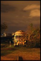 Sad like an abandoned train by michref