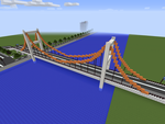 Minecraft Suspension Bridge by JelmerNL