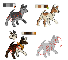 Bull Terrier Adopts [CLOSED] by fluzzadopts