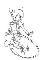 devilish imp lineart by Harpyqueen