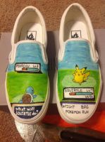 Pokemon shoes! by aawesomegamer