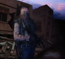 Post Apocalyptic Mercenary 02 by BaLLz-Graphics