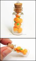 Pumpkin Candy Bottle Charm by Bon-AppetEats