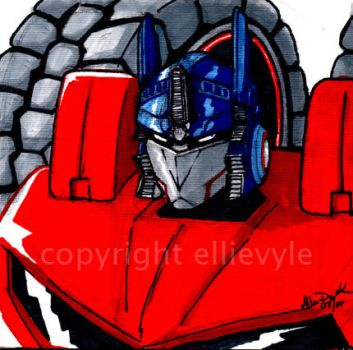 Optimus Prime by EllieVyle