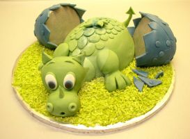 Baby Dragon Cake by ginas-cakes