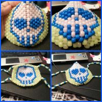 Glow in the Dark Skull Face Mask! by gwennimarie