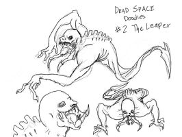 Dead Space - Leaper doodles by Die-Laughing