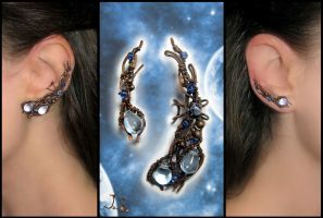 Ear cuff and earvine Star river II by JSjewelry