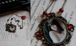 Vampire Romance Necklace by IdaLarsenArt