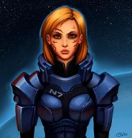 Commander Shepard by Zeon-in-a-tree
