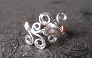 Silver and Copper Ring by merelei
