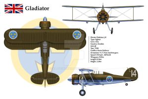 Gladiator Sweden 3-View by WS-Clave