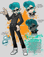 [SPLATOON] Rocky the Firefly Inkling [OC sheet] by SoloAzume