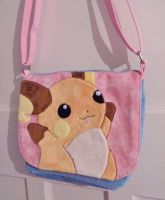 Custom Pokemon Raichu shoulder bag by angelberries