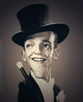 Fred Astaire Caricature by GuillermoRamirez