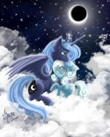 My Little Pony: Luna and Snowdrop by Kanochka