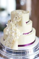 White chocolate wrapped wedding cake by KarenJerram