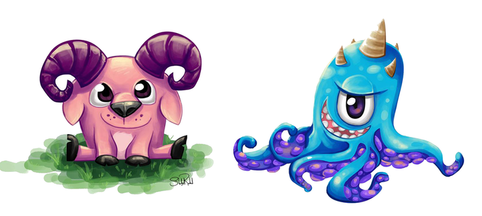Cute Characters by Underwater-Daydream
