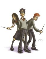 Potter, Weasley and Granger by Louieville-XXIII