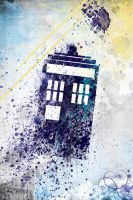 Spatter Tardis by marekmaurizio