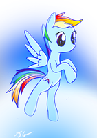 A nother Rainbow Dash by XTorbenX