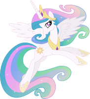 Princess Celestia Posing by 90Sigma