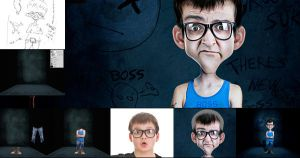 CREATE A CARTOON CHARACTER by manphoto