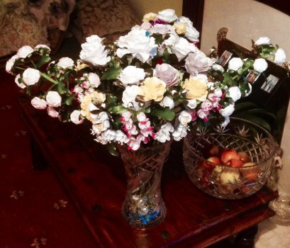 My mam made these flowers by FOX-hime