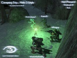 Camping Trip... Halo Style by AfroAfroguy