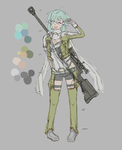 I can be cute too! (Sinon WIP) by oBlueVerity