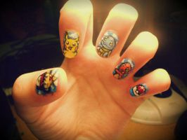 Pokemon Nails by marissa287