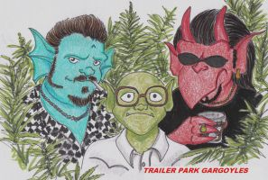Trailer Park Gargoyles by piecesoeight