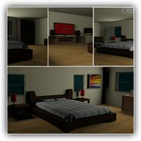 Bedroom Interior Scene Made In 3dsmax by AdamHorse