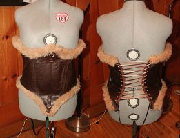 Leather Corset prototype by swinkDaddy