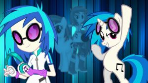 Vinyl Scratch Wallpaper by FortuneTellerKitKat
