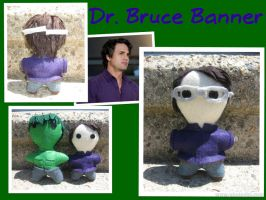 The Scientist: Dr. Bruce Banner -The Plushies- by calceil