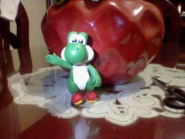 Yoshi cold porcelain by SailorBomber