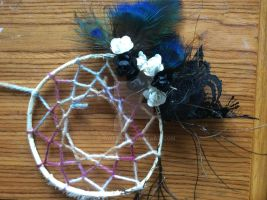 Peacock feather dreamcatcher by s-qweek