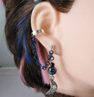 Moon Cartilage Ear Cuff by merigreenleaf