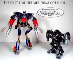 Drugs are bad Optimus... by Unicron9
