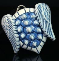 Blue Spiked Turtle Shell by CatharsisJB