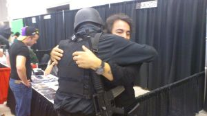 NF Comicon : Me Hugging Tom Savini by TheWarRises