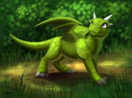 Forest Dragon by jrtracey