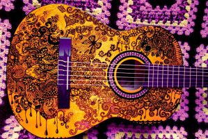 Guitar Drawing by Adrift-Dreams