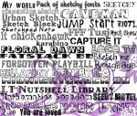 + Pack Sketchy Fonts -ASK FOR THE PASS- + by Litta14Lawliet