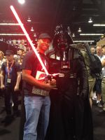 Posing with Vader by EddieHolly