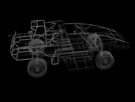 Vehicle wireframe by Thrise