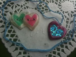 Valentine's day resin pieces by muffinthehamster11